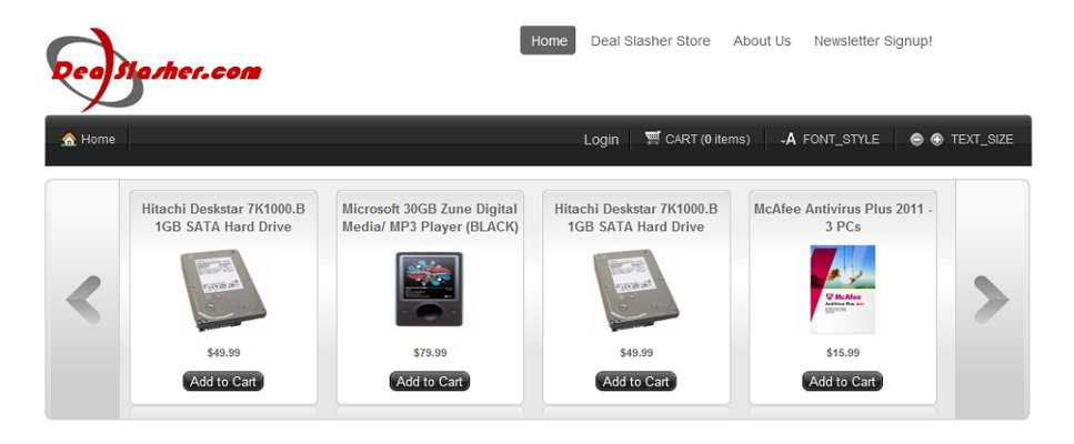 Dealslasher.com Joomla Ecomm Deal of the Day Website
